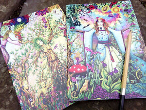 Two beautiful Goddess  sketchbooks blank notebooks Pagan Medieval Wicca drawing