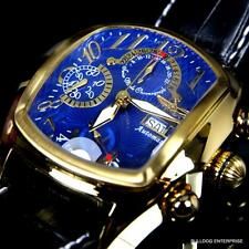 Invicta Dragon Lupah Gold Plated Blue Swiss Automatic Sellita SW500 Chrono New