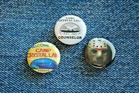 "Friday the 13TH Jason Vorhees Movie Buttons Pins Badge 1"" pinback Horror scary"