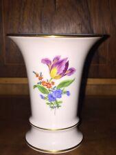 kleine Meissen Vase schöne Blüten Top Zustand 1.Wahl