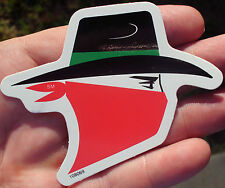 VINTAGE ORIGINAL SKOAL BANDIT HEAD STICKER APPRO.3.75 INCHES BY 3INCHES