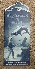 Vintage Marineland of Florida Brochure Porpoise Dolphin Shark Sea Turtle Diver