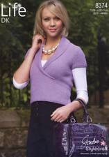 "Stylecraft Knitting Pattern 8374 Ladies Wrap Over Shawl Cardigan DK 28-46"""