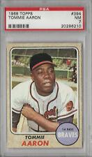 Tommie Aaron 1968 Topps PSA 7 NM Graded Card Atlanta Braves #394