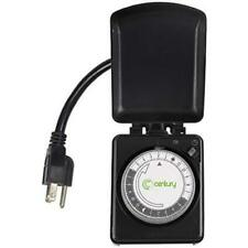 Century 24 Hour Mechanical Dual Outlet Outdoor Timer
