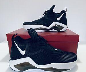 Nike LeBron Soldier XIV 14 TB Basketball Shoes Black White CW4221-001 SZ 17 NWB