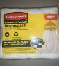 Rubbermaid Commercial Product Disposable, Mop Refill 4-Pack #16 Small🇺🇸