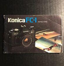 Retro Vintage Konica FC-1 35mm Film SLR Camera - User Instruction Manual