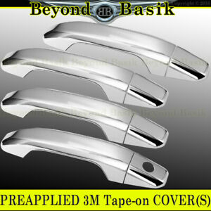 2014-2020 CHEVY SILVERADO GMC SIERRA Chrome Door Handle COVERS 4dr no Smart Key