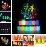 Sparkle Fluorescent Neon Luminous Nail Art Polish Glow In Dark Varnish 10g
