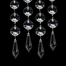 5pcs Acrylic Crystal Clear Garland Hanging Bead Curtain Wedding Club Party Decor