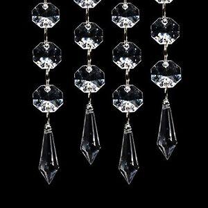 100X Acrylic Crystal Clear Garland Hanging Bead Curtain Wedding Club Party Decor