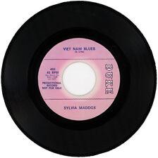 "SYLVIA MADDOX  ""VIET NAM BLUES c/w GOT TO BE FREE""  DEMO  NORTHERN SOUL  LISTEN!"