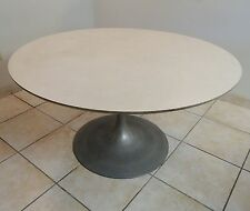 70s MID CENTURY MODERN SAARINEN STYLE TULIP ALUMINUM BASE DINING BREAKFAST TABLE