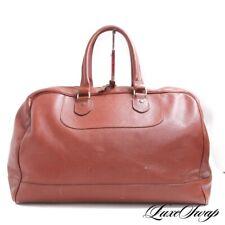 RARE Epaulet New York Rouge Infused Chestnut Saffiano Leather Weekender Bag NR