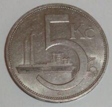 Czechoslovakia 5 Korun / 1938 - var.B  / - VF