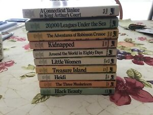 Vintage Moby Books Illustrated Classics Edition Lot of 12 Small Paperback Books