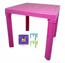 PLASTIC TABLE FOLDING FOLDAWAY FOLD AWAY CHILD KIDS CHILDREN GARDEN ROOM NURSERY