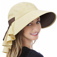 Wide Brim Sun Hats for Women UV Protection Cap Beach Fishing Hat Flap Neck Cover