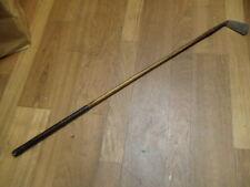 antique hickory wood shaft Heavy Gem Dysart Fife MID IRON golf club