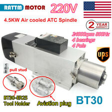 Us Stock 45kw Atc Automatic Tool Change Air Spindle Motor Bt30 800hz 220v Cnc
