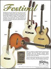 Washburn Festival Series EA36 EA20 EA220 EA10 acoustic guitar 8 x 11 ad print