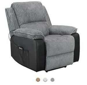 WestWood Fabric Electric Recliner Sofa Faux Leather Armchair Lounge Cinema Chair