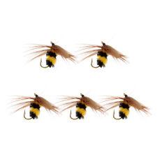 5 pcs bumble abeille nymphe truite mouches pêche à la mouche bionic
