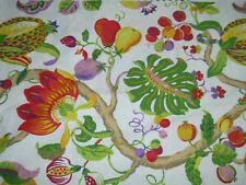 Kaufmann Tropical Fruit & Flowers Fabric 2.5yds Home Decor Upholstery USA