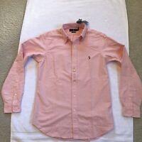 Polo Ralph Lauren Classic Fit Pink Shirt Oxford Long Sleeve Button Men's S - NWT