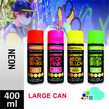Paint Factory Fluorescent Neon Spray Bright Aerosol DIY Matt Hi Vis Safety 400ml