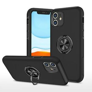 Armor Stand Ring Holder Back Phone Case Cover For iPhone 11 XR 7 8 12 Pro Max 12