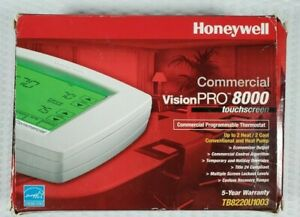 Honeywell TB8220U1003 Commercial Vision Pro 8000 Touchscreen Thermostat