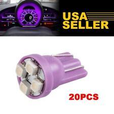 20xT10 194 4-SMD Instrument Panel Gauge Cluster Dash Purple LED Light Bulbs