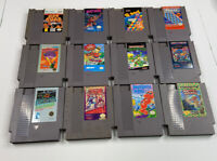 Nintendo NES Game Lot (12 Carts) Pins Cleaned Tested Working (Condition As Is)