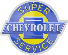 Chevrolet Super Service Round Sign Circular Wall Tag Made in the USA