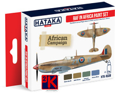HATAKA AS08 Royal Air Force in Africa WW2 Acrylic Paint Set 4 x 17ml Bottles 1st