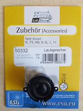 ESU 50332 Lautsprecher m.Schallkapsel 23mm rund, 10mm dick, 4 Ohm, 1-2W,  NEU