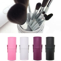 Makeup Leather Cosmetic Cup Case Brush Pen Holder Empty Storage Box Organi wer