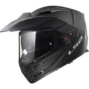 LS2 Metro FF324 Matt Black Motorcycle Motorbike Helmets