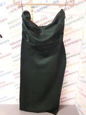 ASOS Design Seamed Bandeau Midi Bodycon Dress Green NEW Size UK 14