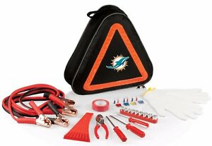NFL Football Miami Dolphins Roadside Vehicles Emergency Safety Accessories Kit
