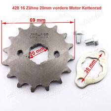 428 16 Zähne Ritzel Zahnrad Kettenrad 20mm vordere Motor für Lifan Dirt Pit Bike