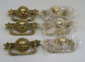 6 Eastlake/Victorian Style Brass EGYPTIAN Revival PHAROAH Drawer Pulls, S-7944