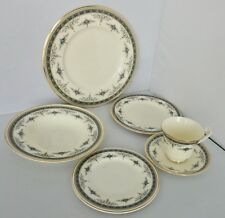 Minton Grasmere Blue Six Piece Place Setting China  Made in England