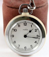 """VINTAGE BEAUTIFUL""""RUHLA""""OPEN FACE MAN'S POCKET WATCH MADE IN DDR/GERMANY # 518"""