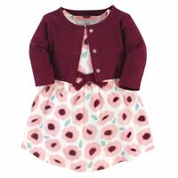 Touched by Nature Baby Organic Dress and Cardigan, Blush Blossom