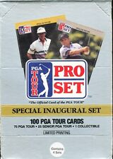 1990 PRO SET GOLF BOX CONTAINING 4 COMPLETE SEALED FACTORY SETS