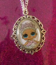 Silver Charm Necklace Pendant LOL L.O.L Surprise Doll Flower Child