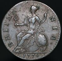 1770 | George III Half-Penny | Copper | Coins | KM Coins